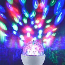 LED RGB forgó Disco lámpa 3x1W E27
