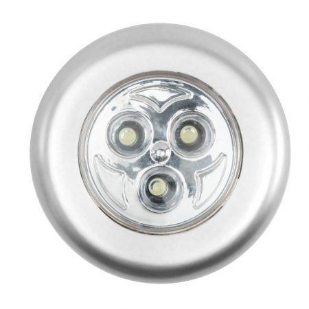 LED bútorvilágító 3LED HidegFehér öntapadós / elemes (nem tartozék)
