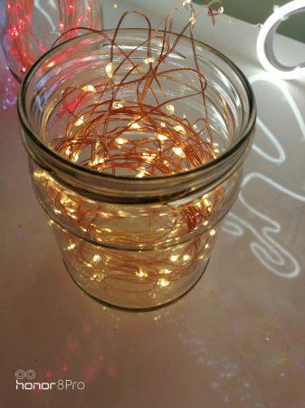 Karácsonyi LED ablakdísz MelegFehér Harang beltéri (elem nem tartozék)