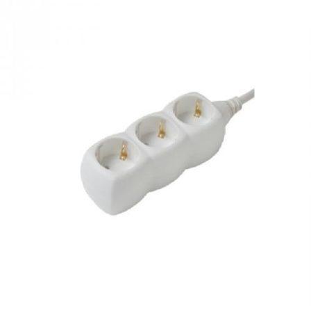 Elosztó 3-as 3m vezetékkel Fehér