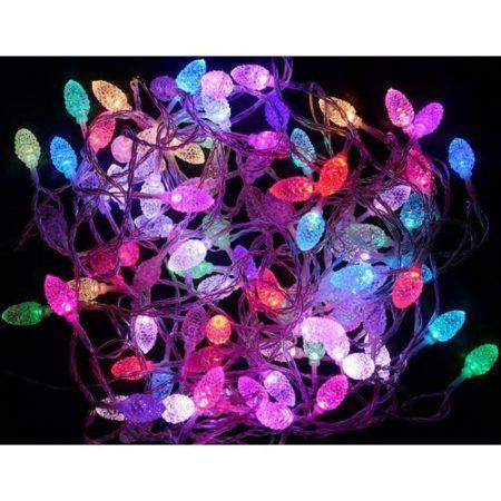 Karácsonyi LED füzér toboz RGB/bel-, kültéri 2év garancia