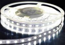 LED szalag HidegFehér kültéri 5050 60LED 14,4W 6500K IP65 5év garancia