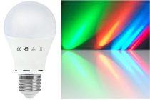 LED RGB körte 7,5W E27 (folyamatos színváltás)