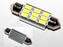 LED autós sofita rendszám,-és belsőtér világitás C9LED 42mm HidegFehér 1 év garancia