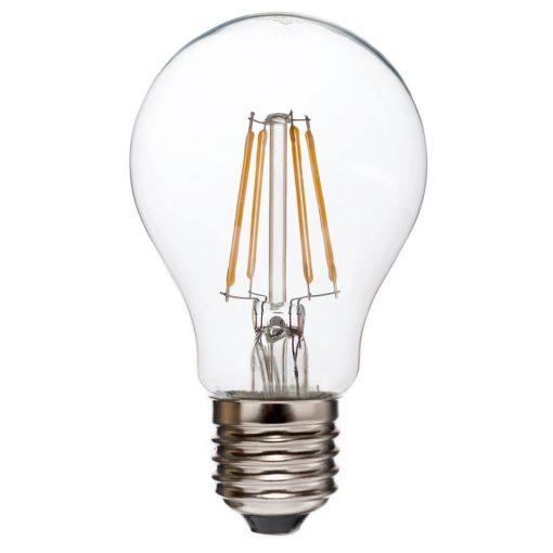 LED Filament körte 6W E27 330° KözépFehér átlátszó búra 4200 K, 650-700 lumen 3 év garancia