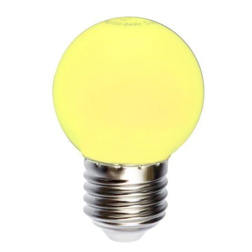 LED kis gömb 1W E27 SÁRGA 1 év garancia