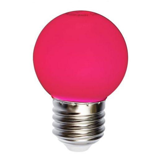 LED kis gömb 1W E27 PIROS 1 év garancia