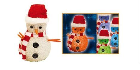 Karácsonyi LED figura Hóember 2 féle Színváltós (elem tartozék)