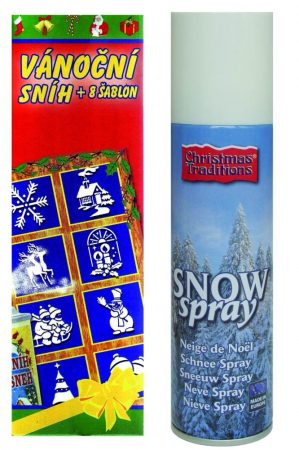 Karácsonyi Hó spray 8 db sablonnal