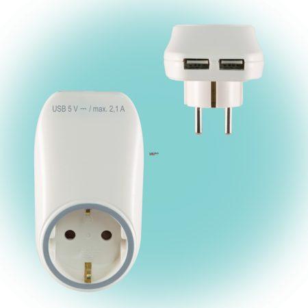 Elosztó 1-es USB töltőaljzatokkal