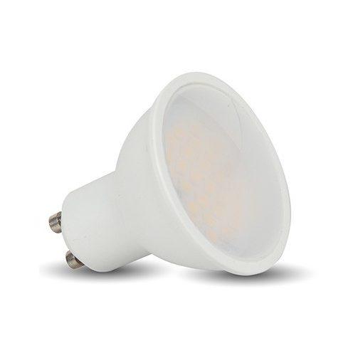LED spot égő GU10 7W MelegFehér 2700K 620 lumen 160° tejüveg 1év garancia