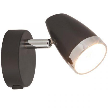 Falikar 1-es KAREN LED 1x4W kapcsolóval 3000K beépített fényforrás / antracit