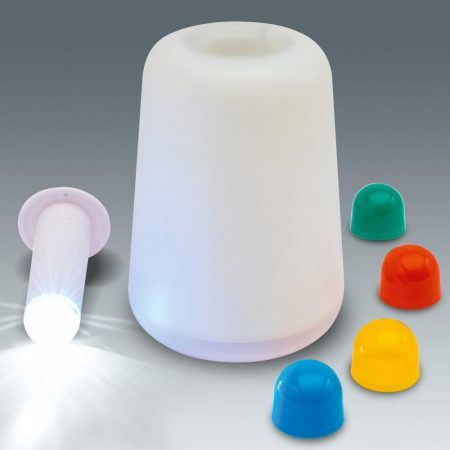 LED 2in1 lámpa / kézi elemlámpa vagy asztali hangulatlámpa elemes (nem tartozék)