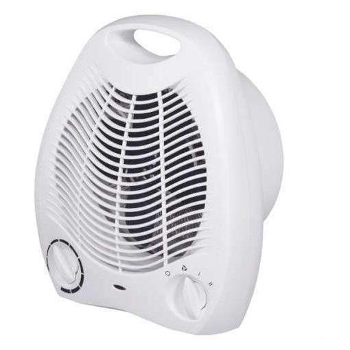 Hősugárzó ventilátor 2000W Fehér / hordozható