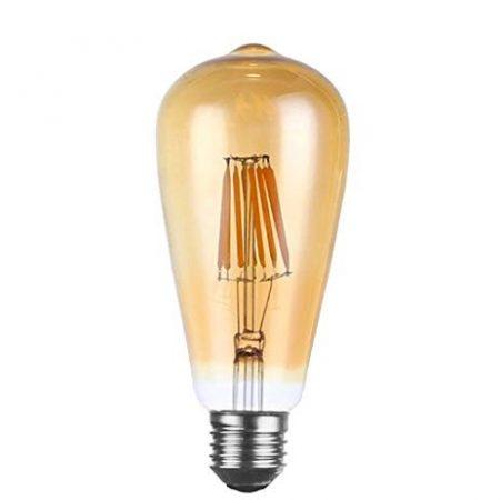 LED Vintage Gold Osram körte 7,5W E27 MelegFehér Filament szabályozható 4év garancia