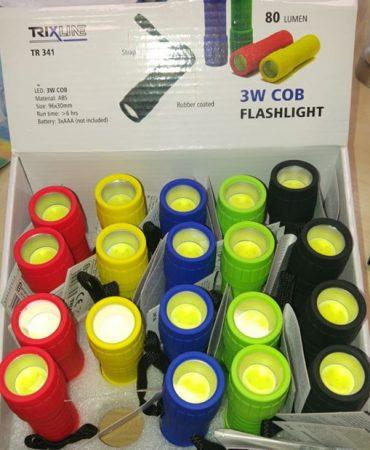 LED elemlámpa 3W COB Piros/Sárga/Kék/Zöld/Fekete elemes (nem tartozék)