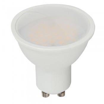 LED spot égő GU10 5W MelegFehér/2700 Kelvin, 440/490 lumen 120° tej 3 év garancia