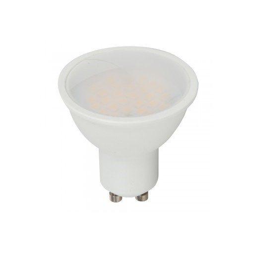 LED spot égő GU10 5W KözépFehér/4200K 490lumen tej 3év garancia