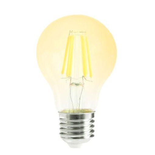 LED Filament körte 8W E27 360° MelegFehér átlátszó búra 2700K, 1000 lumen 120mm 3 év garancia