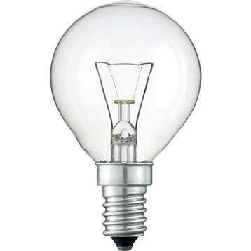 Hagyományos gömb izzó 40W E14 átlátszó