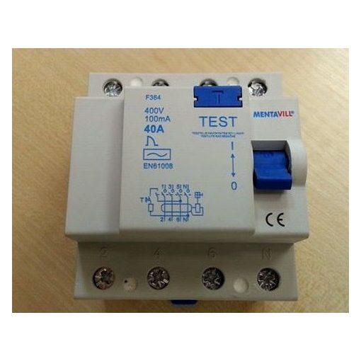 Áramvédő kapcsoló (firelé) 4P 100mA 40A / 423055