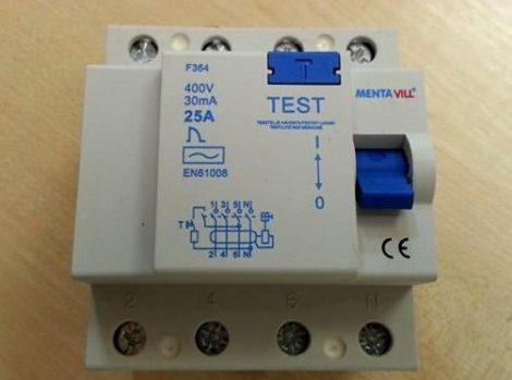 Áramvédő kapcsoló (firelé) 4P 30mA 25A / 423035