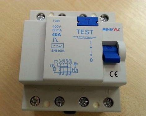 Áramvédő kapcsoló (firelé) 4P 30mA 40A