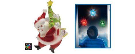 Karácsonyi LED öntapadós ablakdísz Mikulás beltéri (elem tartozék)