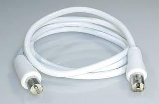 Koax szett / dugó + aljzat, dupla árnyékolás 1,5m RF1 Fehér