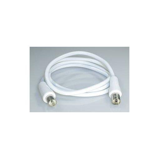 Koax szett / dugó + aljzat, dupla árnyékolás 5m RF5 Fehér