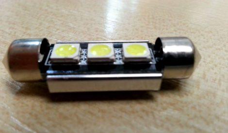 LED autós sofita rendszám,- és belsőtér világitás C3L5050 39mm HidegFehér 1 év garancia