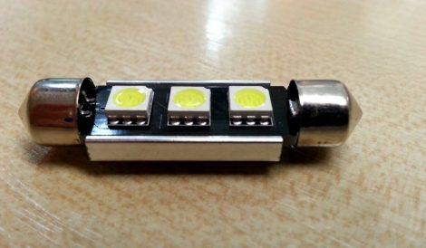 LED autós sofita rendszám,- és belsőtér világitás C3L5050 42mm HidegFehér 1 év garancia