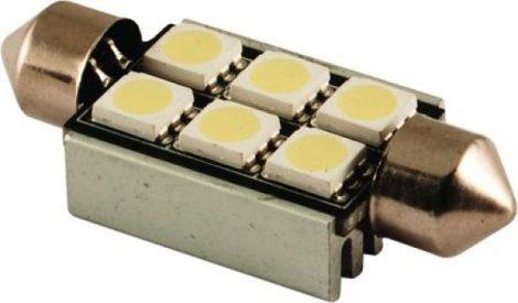 LED autós sofita rendszám,- és belsőtér világitás C6L5050 39mm HidegFehér 1 év garancia
