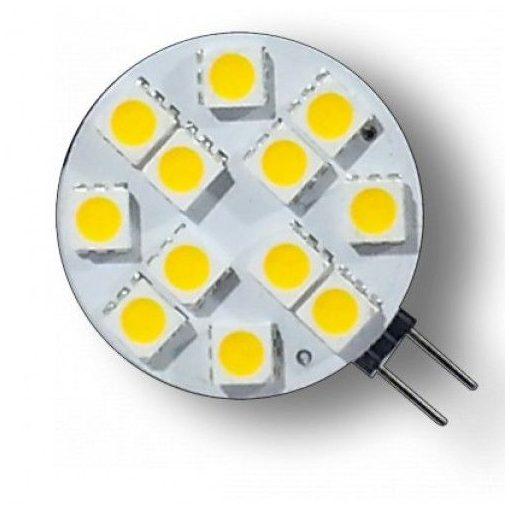 LED G4 kör égő 2,4W MelegFehér /2700 Kelvin, 160 lumen kicsi/27,5 mm  3 év garancia