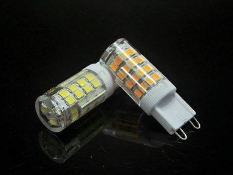 LED G9 égő 4W MelegFehér/2700 Kelvin, 400 lumen  mini 3 év garancia