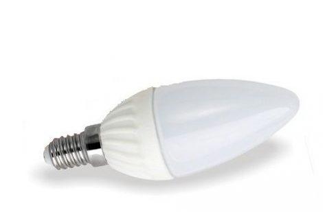 LED gyertya égő 5W E14 MelegFehér/2700 K, 480 lumen  Fényerőszabályozható 3 év garancia