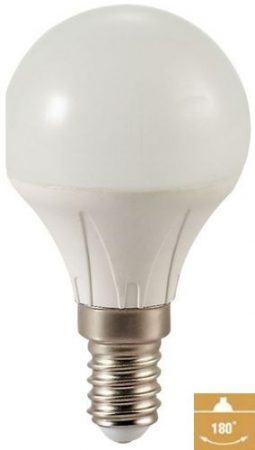 LED kis körte 4W E14 MelegFehér/2700 K,360/400 lumen 3 év garancia