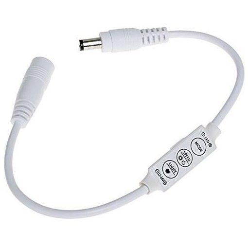 LED vezérlő fényerőszabályzó mini 72W 3 gombos/egyszinű szalaghoz/ 2 év garancia