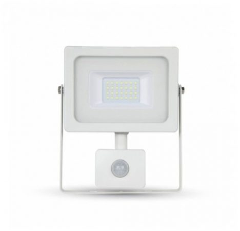 LED reflektor 10W mozgásérzékelővel HidegFehér, 6000 Kelvin, 780 lumen, IP65 2 év garancia