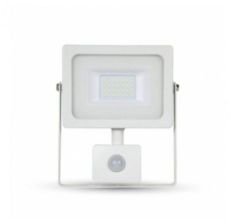 LED reflektor 20W mozgásérzékelővel MelegFehér 3000 Kelvin, 1580 lumen IP65 2 év garancia