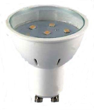 LED spot égő GU10 3W HidegFehér/6000 Kelvin, 220 lumen 120°átlátszó búra 2 év garancia