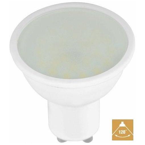 LED spot égő GU10 6W MelegFehér/2700 Kelvin  550/600 lumen tej üveg 3 év garancia