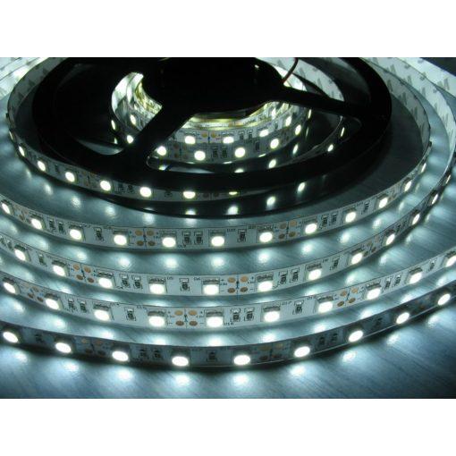 LED szalag HidegFehér beltéri 5050 60LED 13W 6500K 2 év garancia