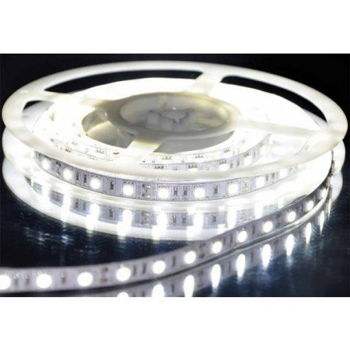 LED szalag HidegFehér kültéri 5050 60LED 14,4W 6500K IP65 2 év garancia