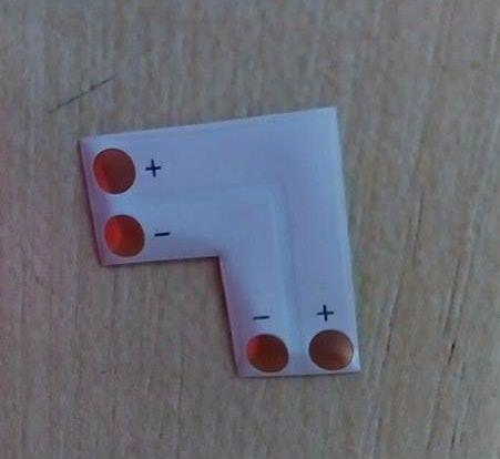 LED szalag sarok toldó 10mm