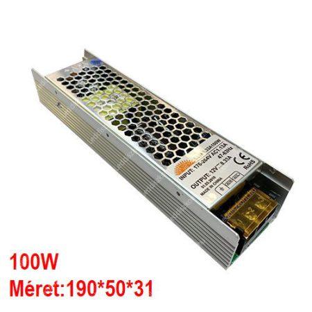 LED trafó 12V IP20 100W 2 év garancia