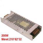 LED trafó 12V IP20 200W 2 év garancia