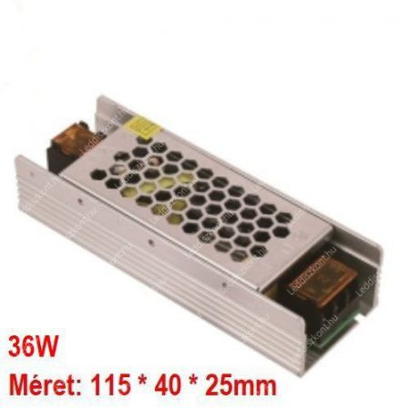 LED trafó 12V IP20 36W 2 év garancia