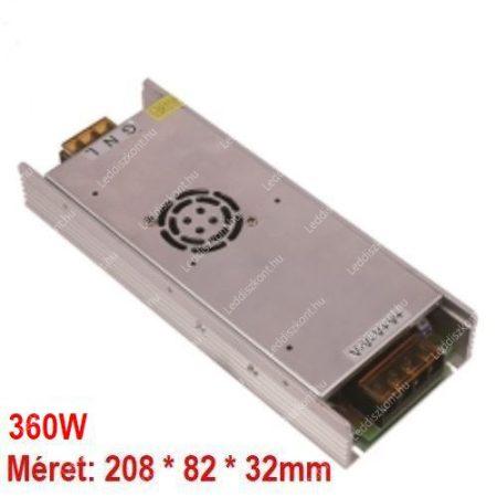 LED trafó 12V IP20 360W 2 év garancia