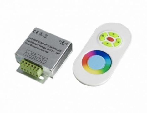 LED vezérlő távirányítóval RGB 216W rádiós fehér 2 év garancia